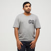 CC Collegiate Printed T-Shirt Grey Marl/Black - Community Clothing