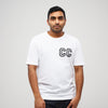 CC Collegiate Printed T-Shirt White/Black - Community Clothing