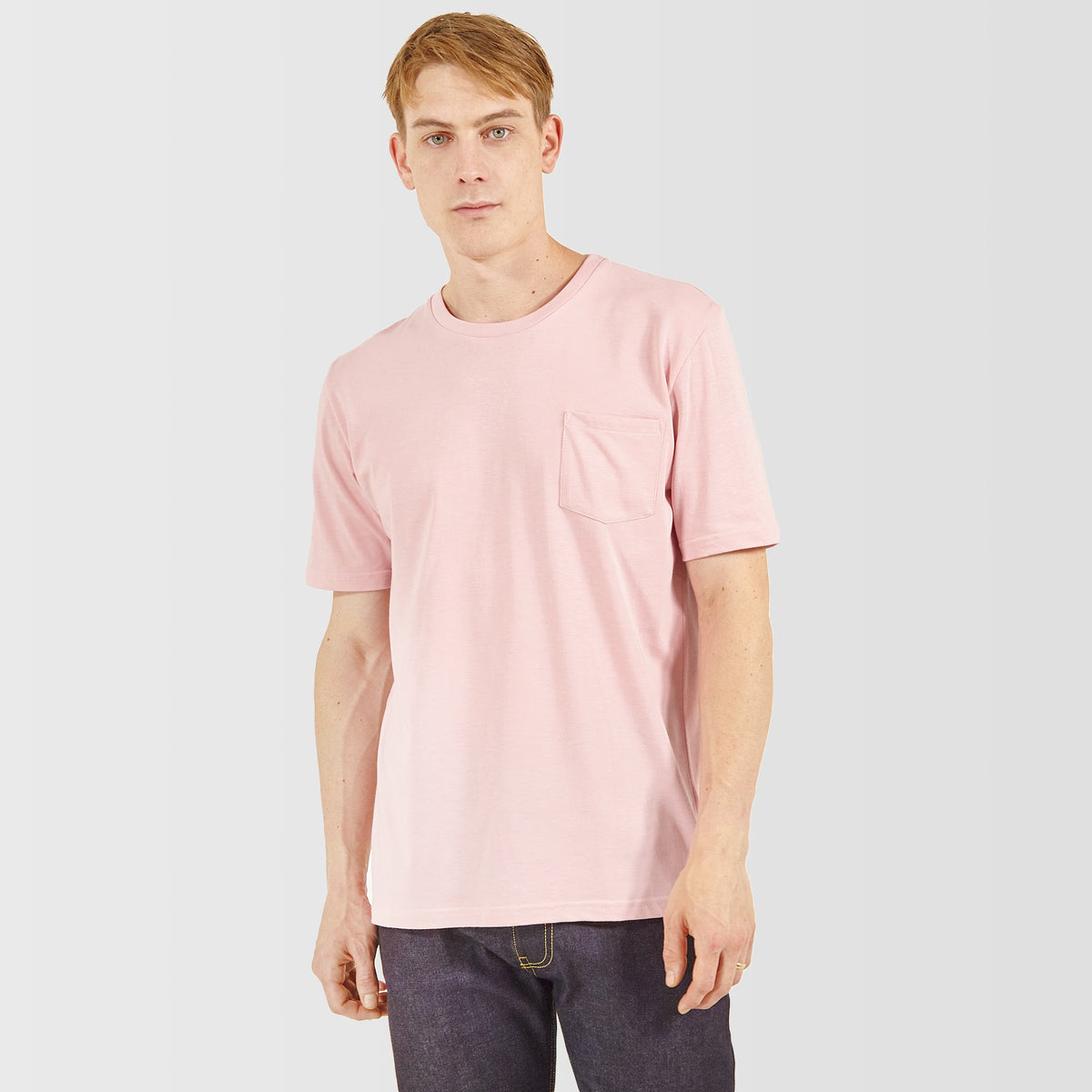 Men's Short Sleeve Pocket T-Shirt Pink - Community Clothing