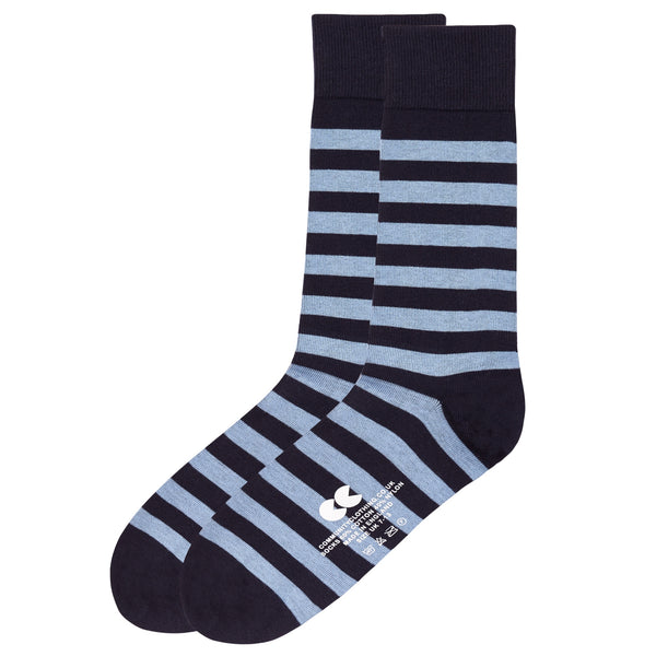 Striped Socks Navy/Sky Blue - Community Clothing