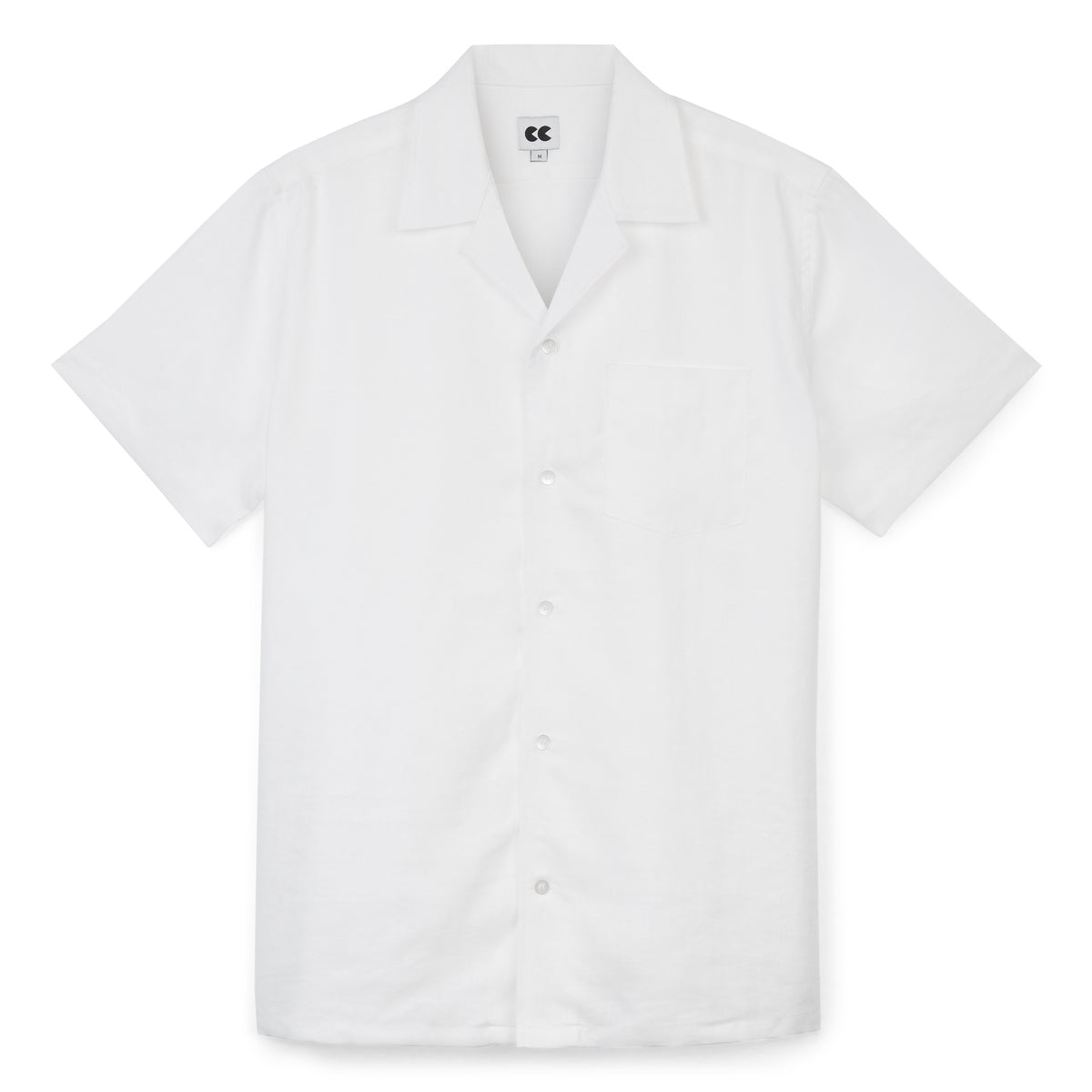 Camp Collar Shirt - Linen - White - Community Clothing