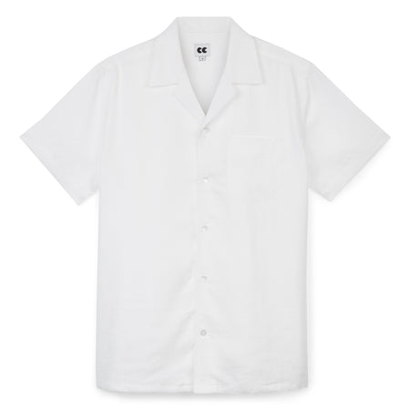 Camp Collar Shirt - Linen - White