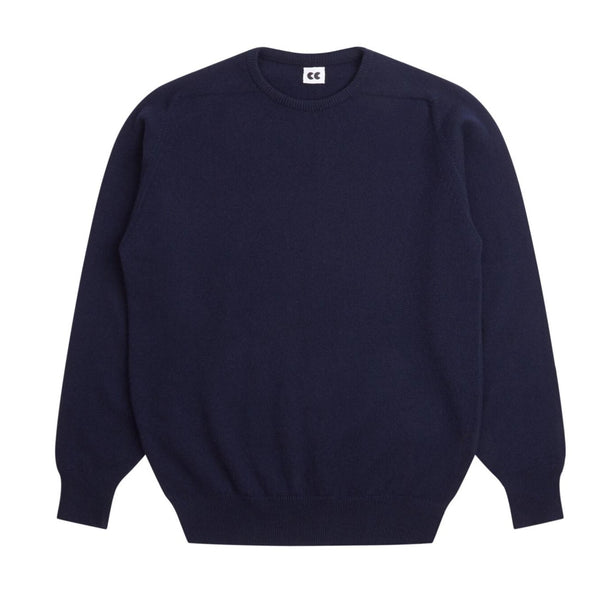 Lambswool Crew Neck Jumper Navy - Community Clothing