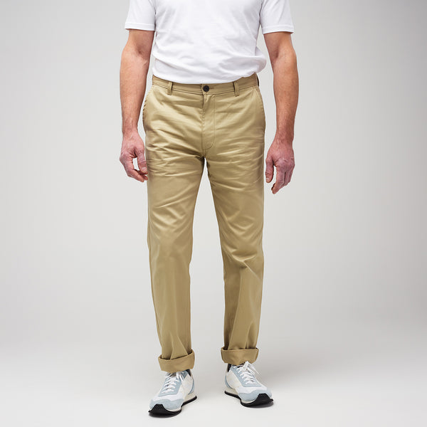 Men's Slim Chino Stone - Community Clothing