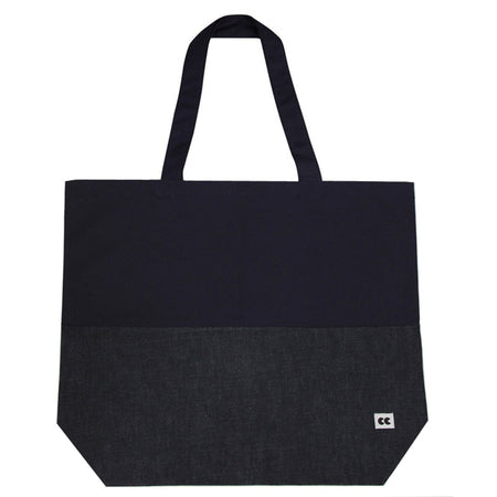 Navy and Denim Tote Bag Dark Indigo