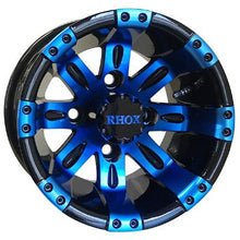"10"" RHOX Vegas, Black w/ Blue, 205 x 50- 10"