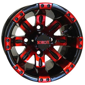 "10"" RHOX Vegas, Black w/ Red,  205x50-10"