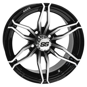 "Copy of 14"" Machined, Black, Road Hawk, 23x10R14 Radial DOT, 4 Ply"