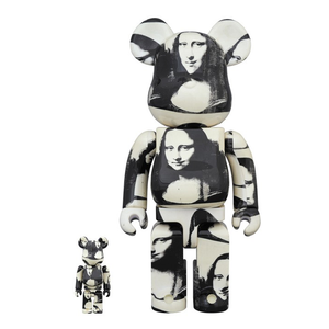 bearbrick medicom with andy warhol