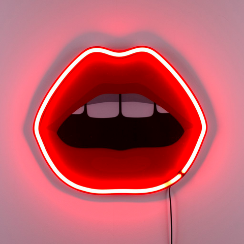 STUDIO JOB - BLOW MOUTH NEON LAMP / SELETTI