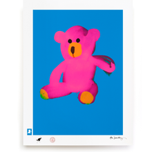 Load image into Gallery viewer, BLUNDLUND.CO.,LTD FINE ART PRINT - LOVE PINK BLUE / LIMITED EDITION OF 250