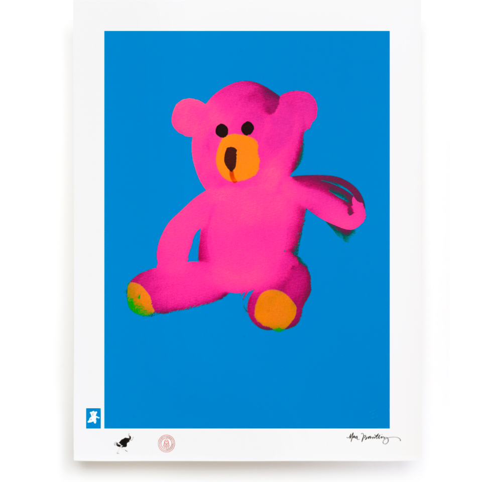 BLUNDLUND.CO.,LTD FINE ART PRINT - LOVE PINK BLUE / LIMITED EDITION OF 250