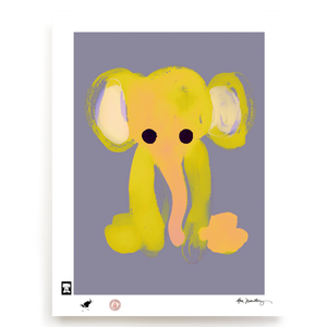 BLUNDLUND.CO.,LTD FINE ART PRINT - LUMUMBA YELLOW GREY / LIMITED EDITION OF 250