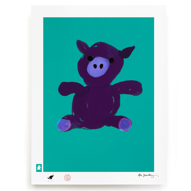 BLUNDLUND.CO.,LTD FINE ART PRINT - LYCKA PURPLE GREEN / LIMITED EDITION OF 250