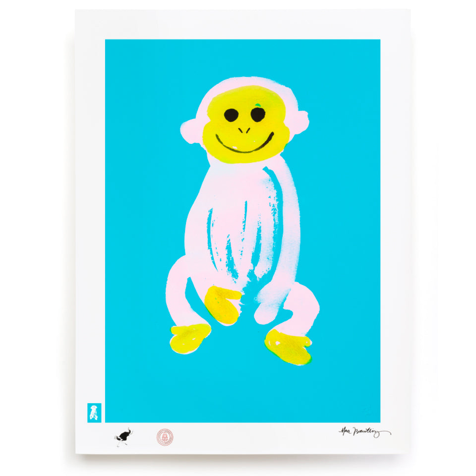 BLUNDLUND.CO.,LTD FINE ART PRINT - JUSTUS LIGHT BLUE PINK / LIMITED EDITION OF 250