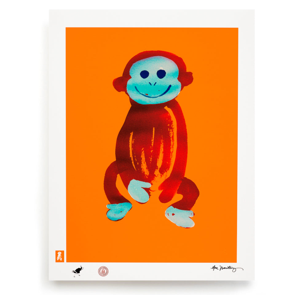 BLUNDLUND.CO.,LTD FINE ART PRINT - JUSTUS ORANGE RED / LIMITED EDITION OF 250