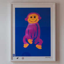 Load image into Gallery viewer, BLUNDLUND.CO.,LTD FINE ART PRINT - JUSTUS BLUE PINK / LIMITED EDITION OF 250