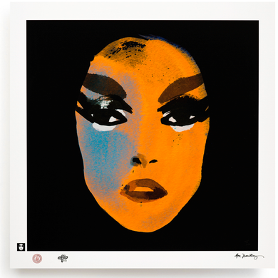 BLUNDLUND.CO.,LTD FINE ART PRINT / IN THE GUTTER - PATTI ORANGE & BLACK / LIMITED EDITION OF 250
