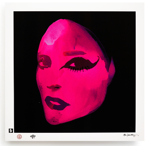 BLUNDLUND.CO.,LTD FINE ART PRINT / IN THE GUTTER - EILEEN PINK & BLACK / LIMITED EDITION OF 250