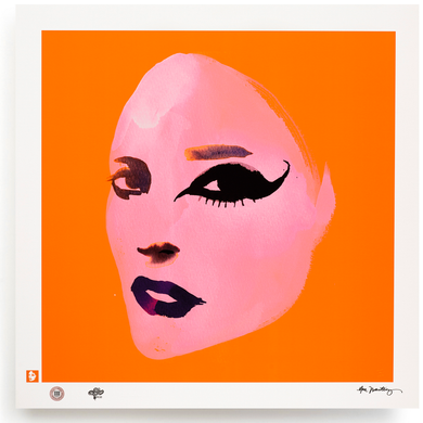 BLUNDLUND.CO.,LTD FINE ART PRINT / IN THE GUTTER - EILEEN PINK & ORANGE / LIMITED EDITION OF 250