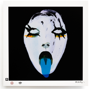 BLUNDLUND.CO.,LTD FINE ART PRINT / IN THE GUTTER - LEILA WHITE, BLUE & BLACK / LIMITED EDITION OF 250