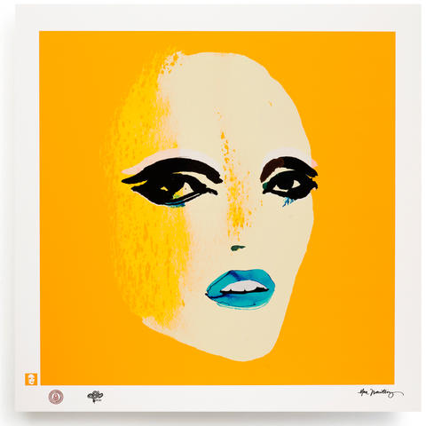 BLUNDLUND.CO.,LTD FINE ART PRINT / IN THE GUTTER - NICO WHITE & YELLOW / LIMITED EDITION OF 250