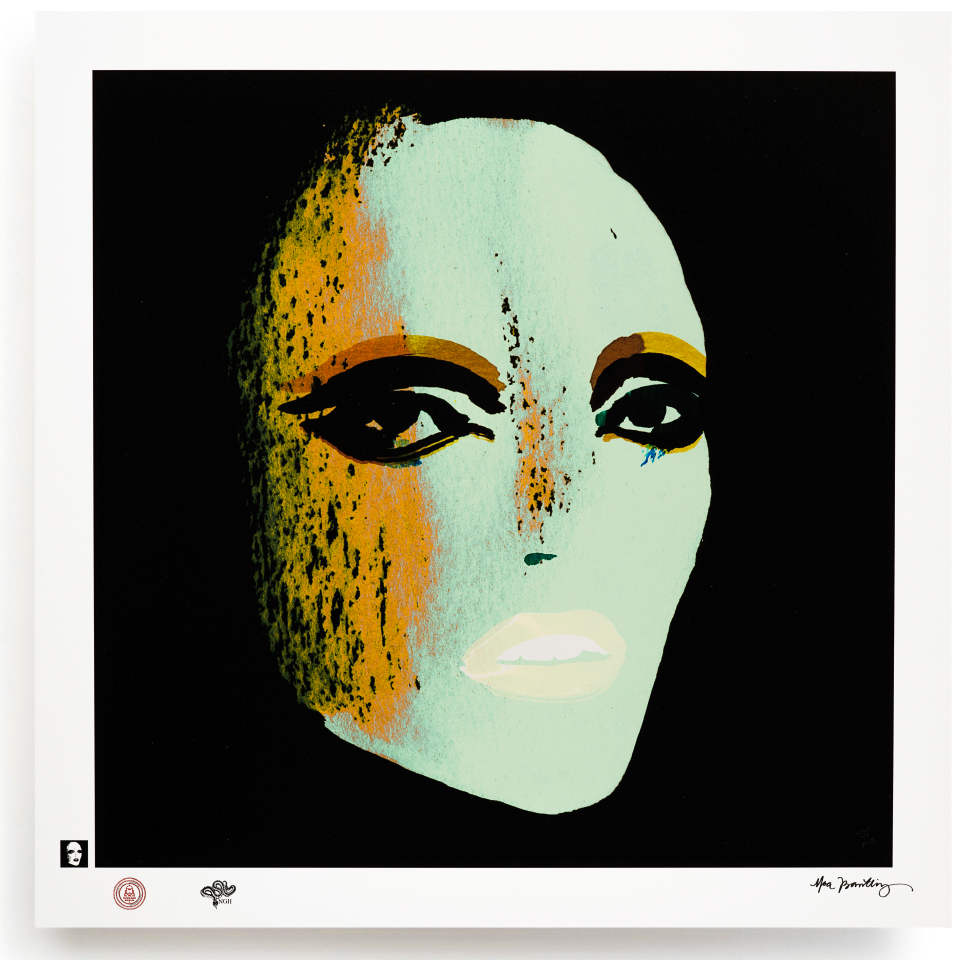 BLUNDLUND.CO.,LTD FINE ART PRINT / IN THE GUTTER - NICO GREEN & BLACK / LIMITED EDITION OF 250