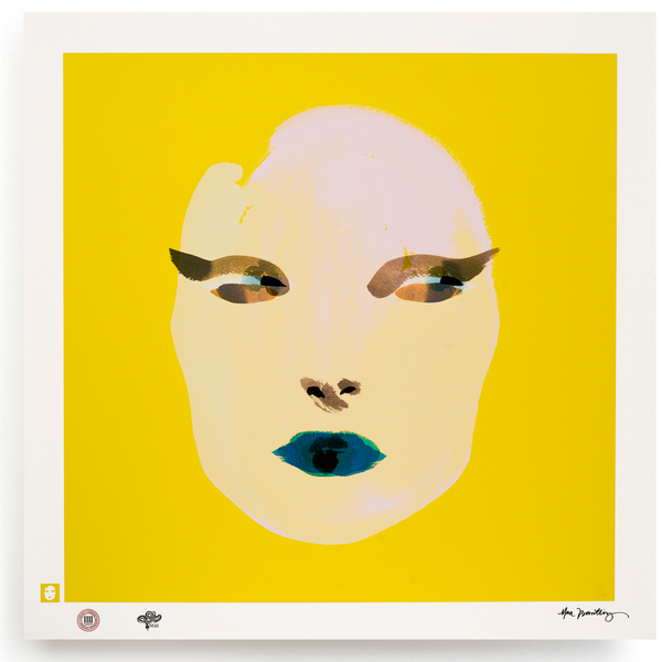 BLUNDLUND.CO.,LTD FINE ART PRINT / IN THE GUTTER - SIBYLLA WHITE & YELLOW / LIMITED EDITION OF 250
