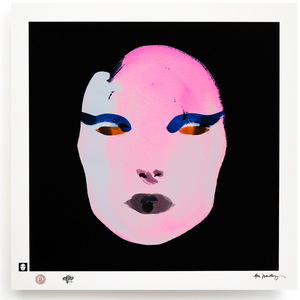 BLUNDLUND.CO.,LTD FINE ART PRINT / IN THE GUTTER - SIBYLLA PINK & BLACK / LIMITED EDITION OF 250