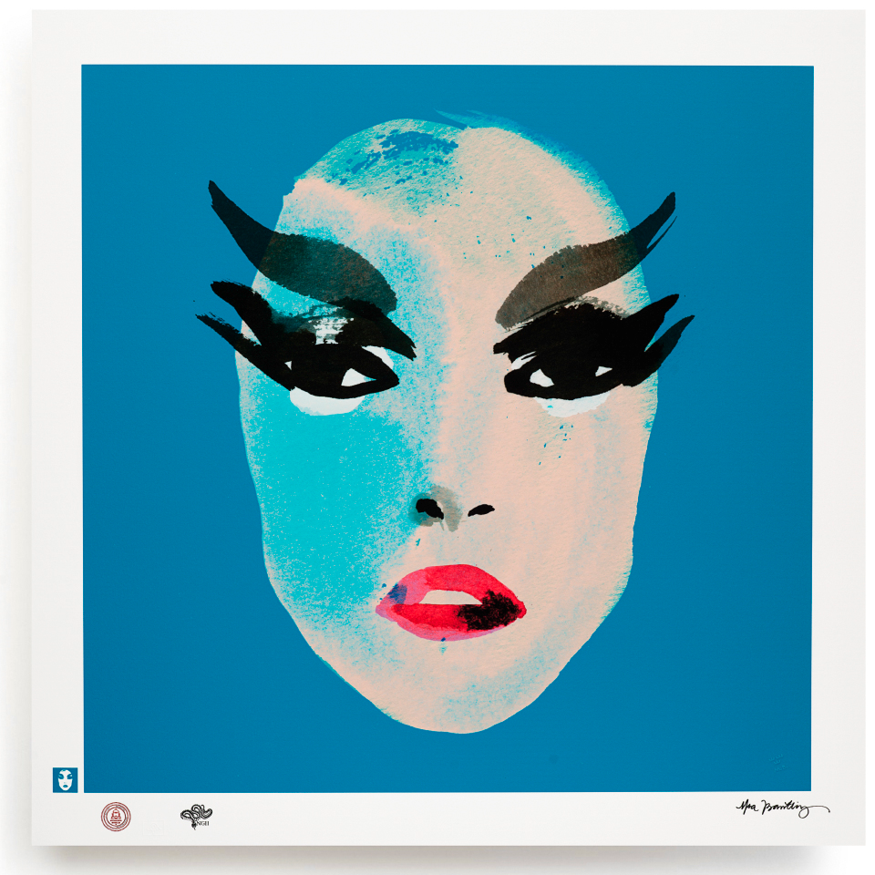 BLUNDLUND.CO.,LTD FINE ART PRINT / IN THE GUTTER - PATTI BEIGE & TURQUOISE / LIMITED EDITION OF 250