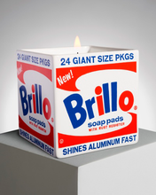 "Load image into Gallery viewer, ANDY WARHOL ""BRILLO BOX"" SQUARE / ARTISANAL SCENTED CANDLE"