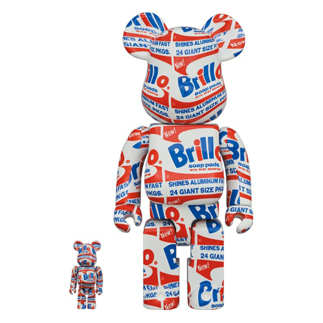 BRILLO / BE@RBRICK SET 400/100% - ANDY WARHOL / MEDICOM TOY