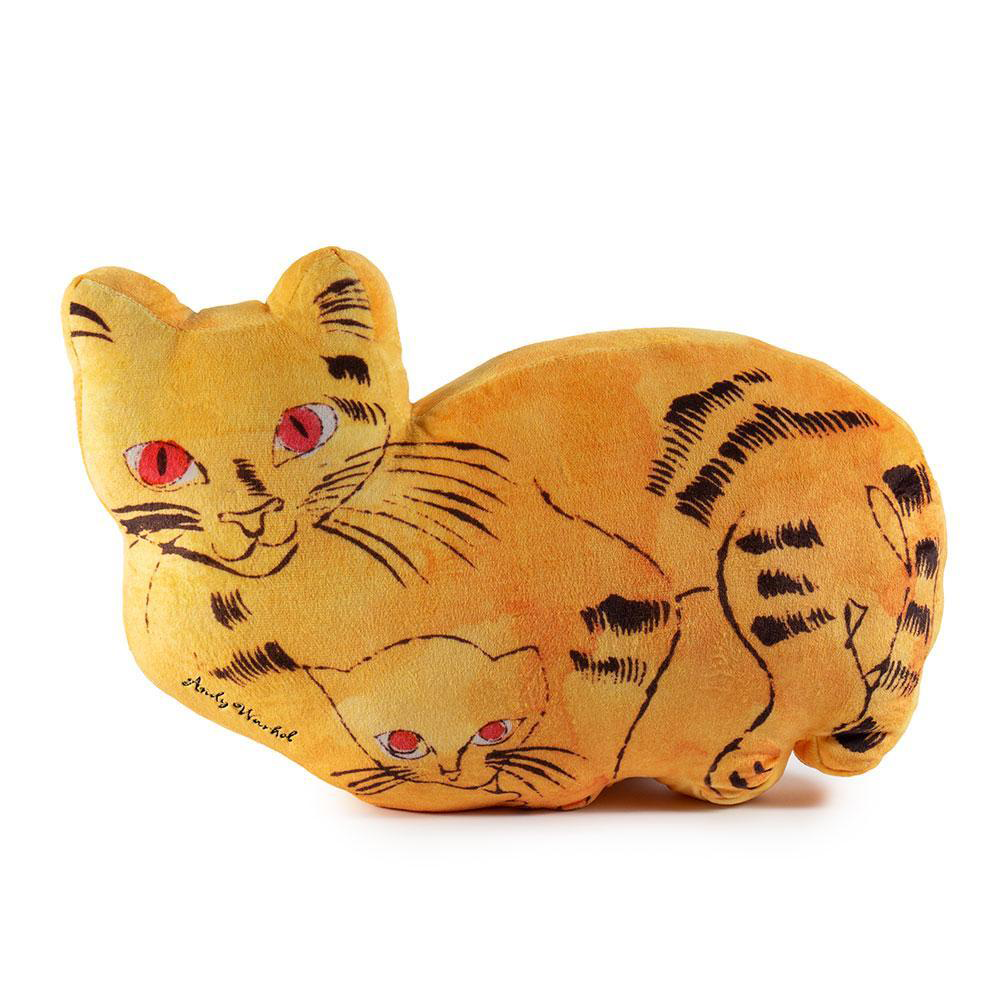 ANDY WARLHOL - YELLOW SAM THE CAT PLUSH   / KIDROBOT