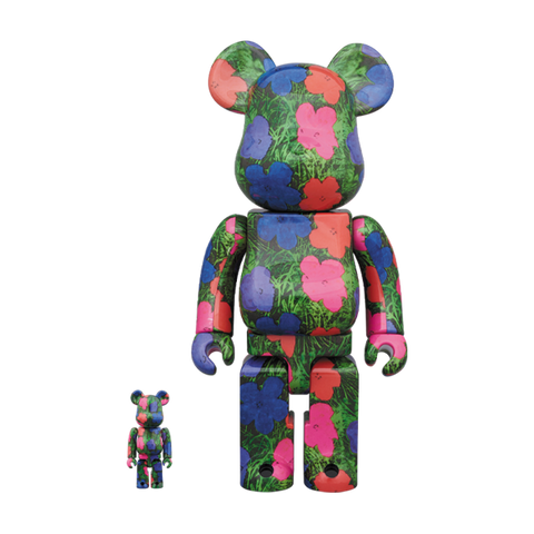 FLOWERS / BE@RBRICK SET 400/100% - ANDY WARHOL / MEDICOM TOY
