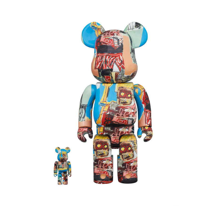 JEAN-MICHEL BASQUIAT #6 X BE@RBRICK SET 400/100% BY MEDICOM TOY