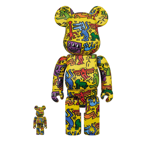 Keith Haring #5 X BE@RBRICK SET 400/100% BY MEDICOM TOY