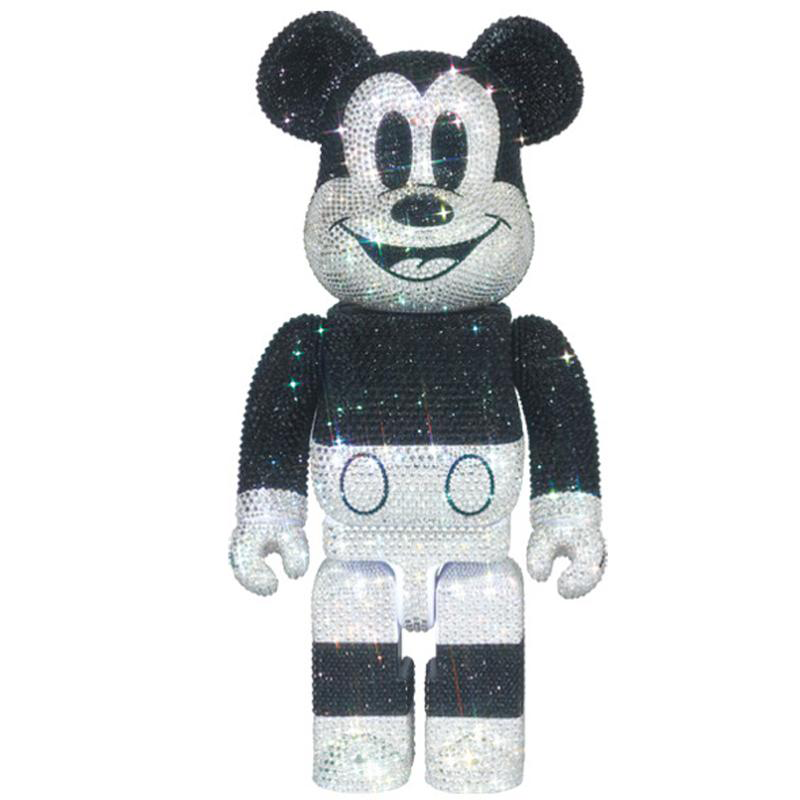 BE@RBRICK 400% / CRYSTAL DECORATE MICKEY MOUSE BEARBRICK