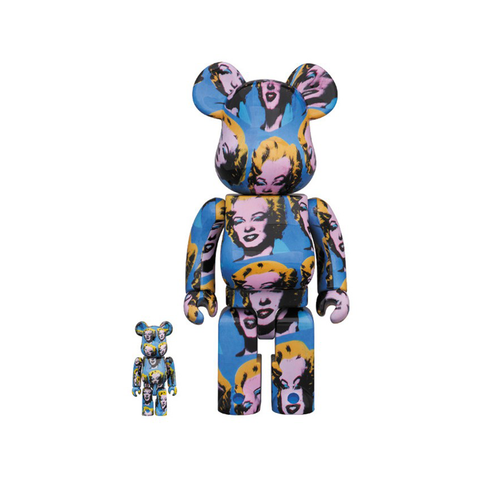 BE@RBRICK 100/400% X ANDY WARHOL - MARILYN MONROE / MEDICOM TOY +