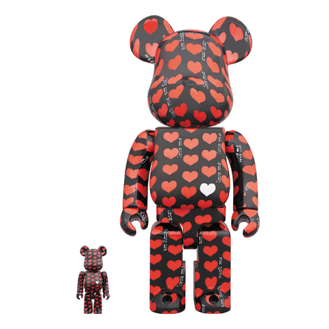 BE@RBRICK SET 400/100% - HIDE BLACK HEART / MEDICOM TOY