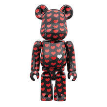 Load image into Gallery viewer, BE@RBRICK SET 400/100% - HIDE BLACK HEART / MEDICOM TOY