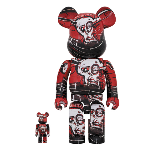 JEAN-MICHEL BASQUIAT #5 X BE@RBRICK SET 100/400% BY MEDICOM TOY