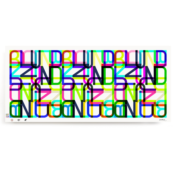 blundlund.co.,ltd print graffiti lettering tag