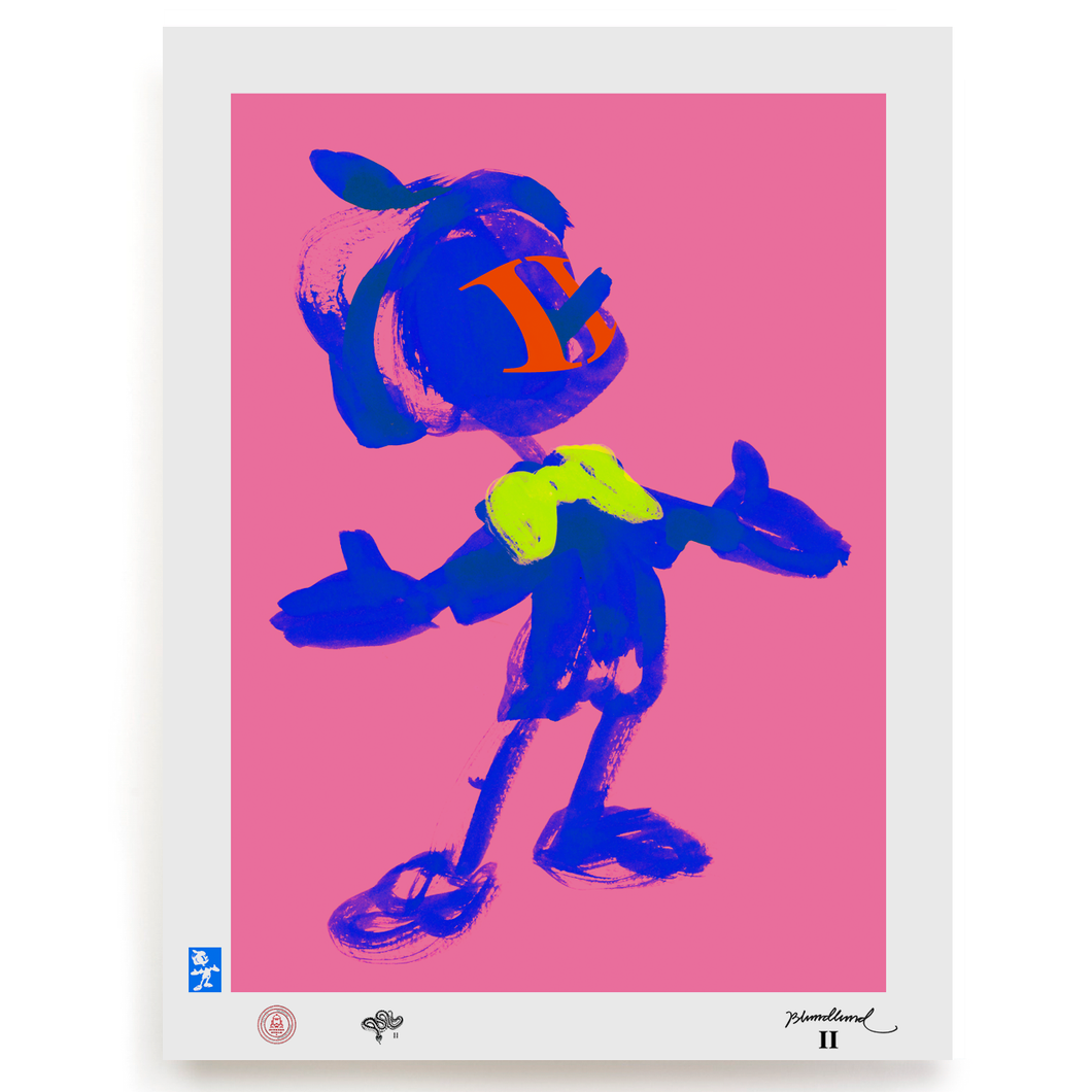 BLUNDLUND.CO.,LTD FINE ART PRINT - VOJLA BLUE PINK / LIMITED EDITION OF 250
