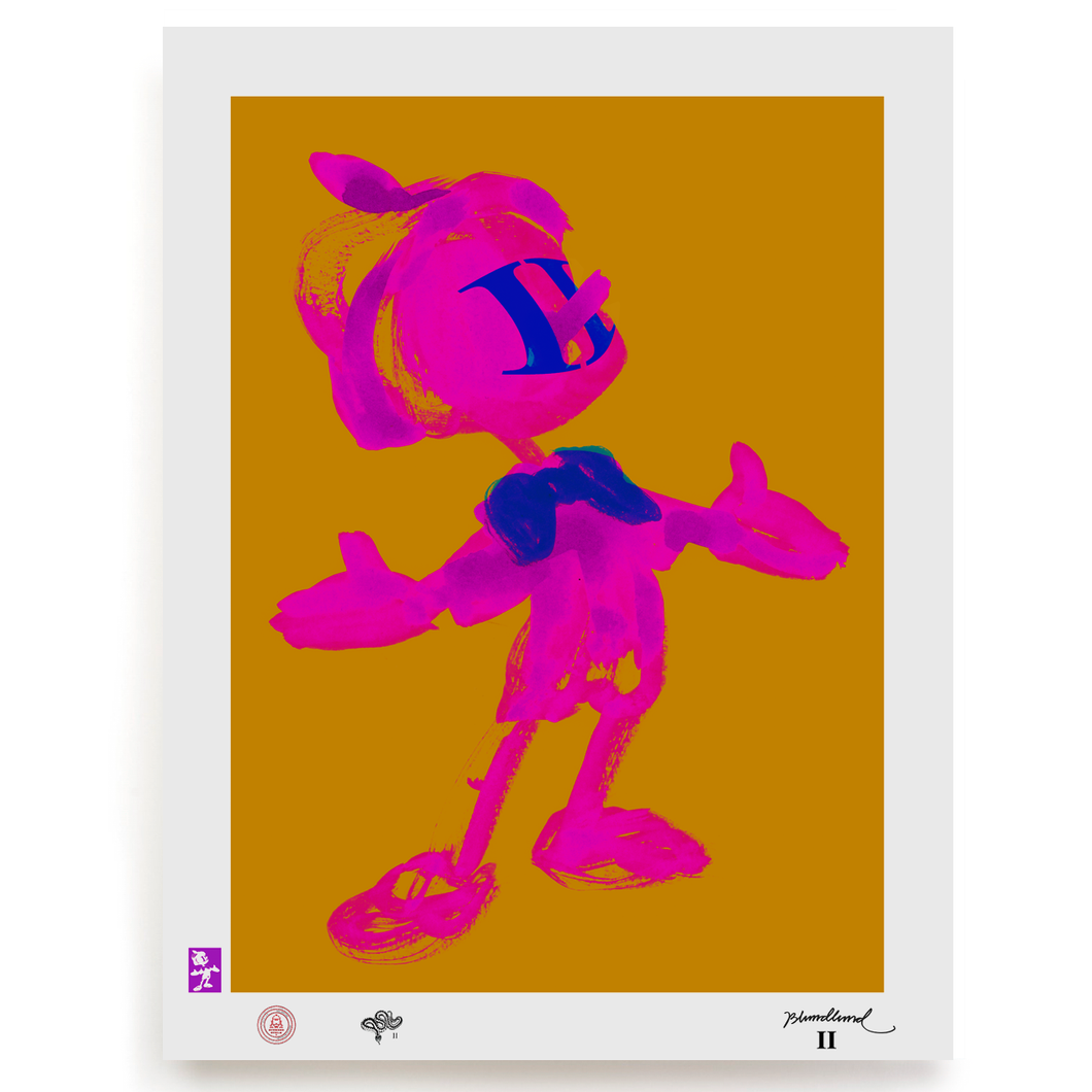 BLUNDLUND.CO.,LTD FINE ART PRINT - VOJLA PINK BROWN / LIMITED EDITION OF 250