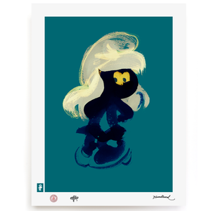 BLUNDLUND.CO.,LTD FINE ART PRINT - YEAH BLUE GREEN / LIMITED EDITION OF 250