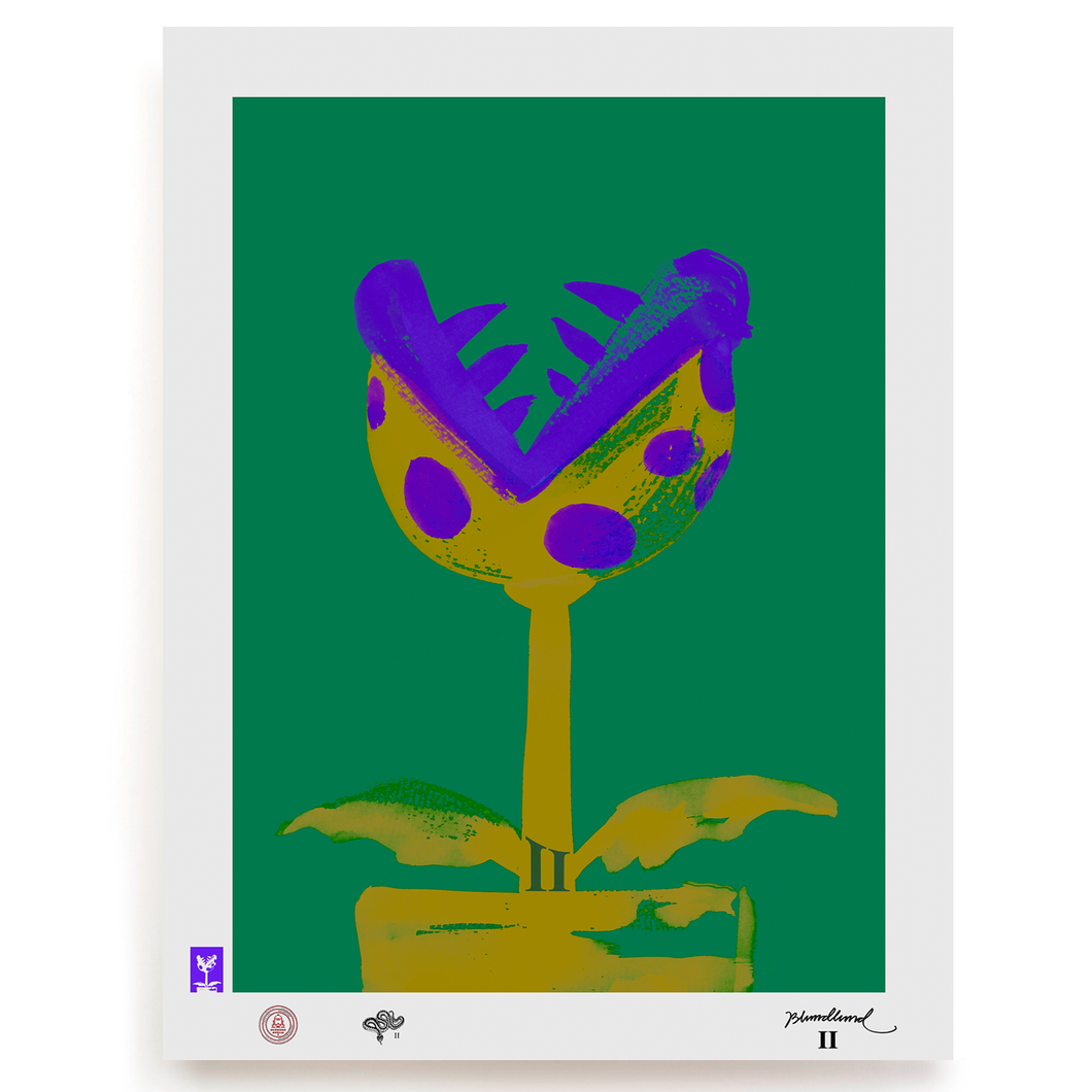 BLUNDLUND.CO.,LTD FINE ART PRINT - SWEEET LILAC GREEN / LIMITED EDITION OF 250