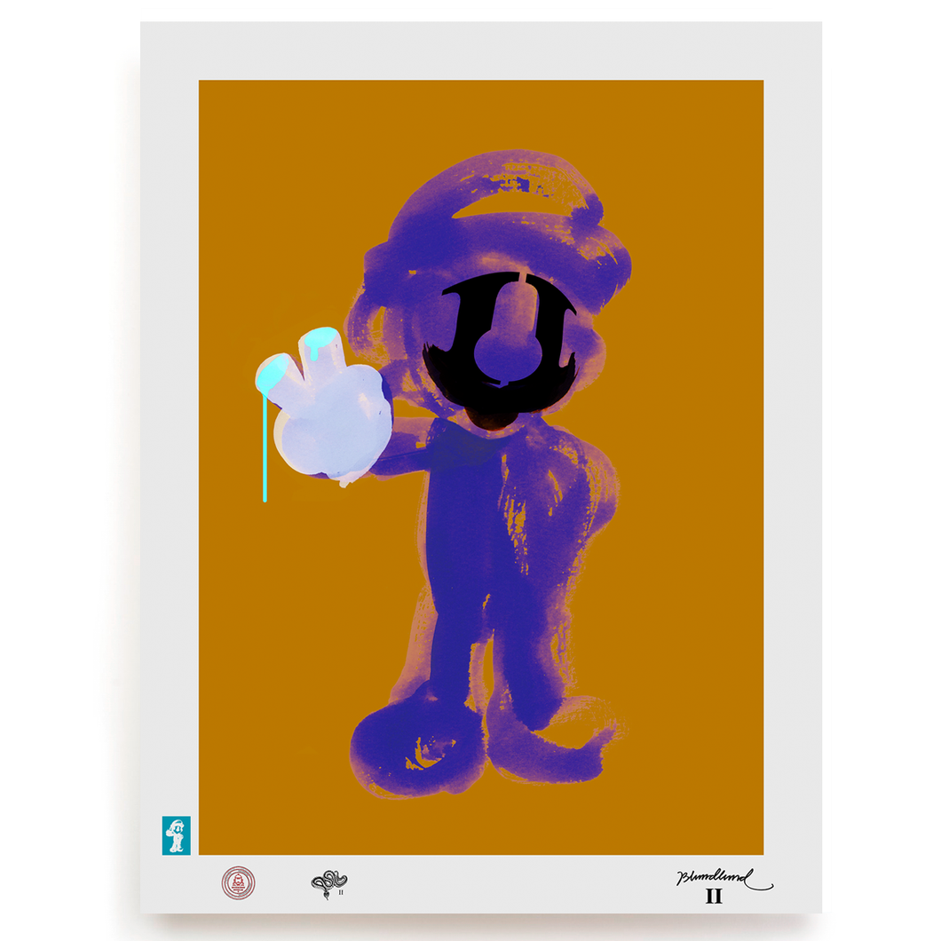 BLUNDLUND.CO.,LTD FINE ART PRINT - MARIO II LILAC MUSTARD / LIMITED EDITION OF 250