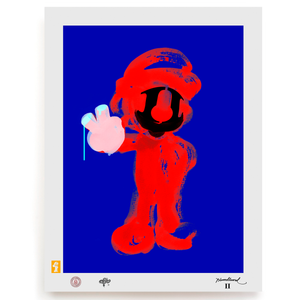 BLUNDLUND.CO.,LTD FINE ART PRINT - MARIO II RED BLUE / LIMITED EDITION OF 250