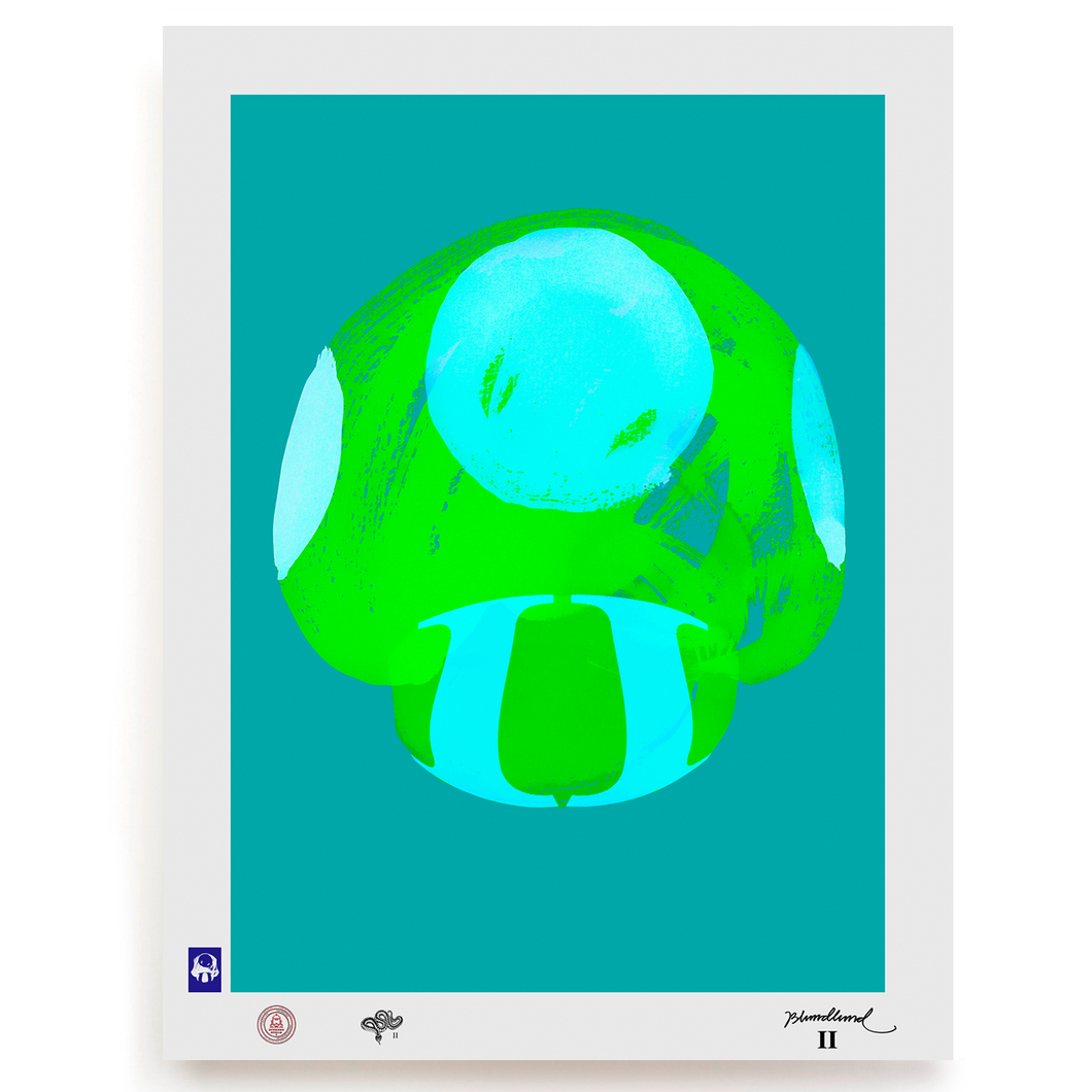 BLUNDLUND.CO.,LTD FINE ART PRINT - NIJCE GREEN BLUE / LIMITED EDITION OF 250