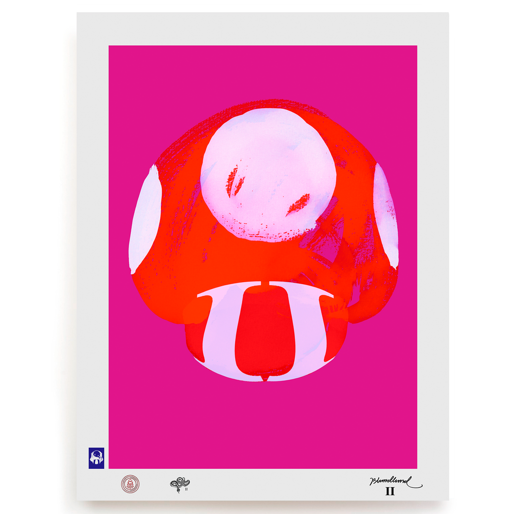 BLUNDLUND.CO.,LTD FINE ART PRINT - NIJCE RED PINK / LIMITED EDITION OF 250